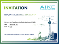 Invitation from Aike Hand Dryer Exhibition on the World's Largest Trade Show-ISSA/INTERCLEAN Las Vegas 2017